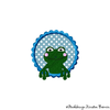 Frosch Button Stickdatei
