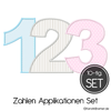 Zahlen Applikation Stickdateien Set