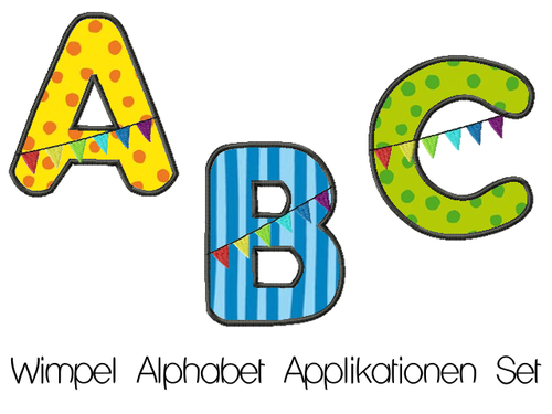 ABC Applikationen Set Wimpel