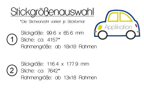Auto Applikation Stickmuster - KerstinBremer.de