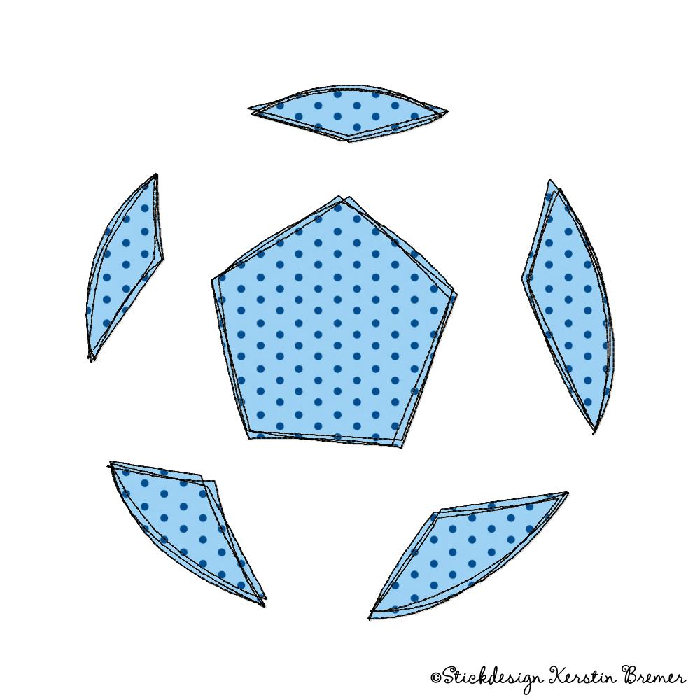 Fußball Doodle Stickmuster - KerstinBremer.de
