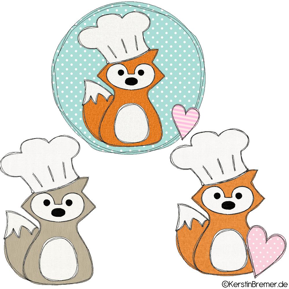 Küche Doodle Stickmuster - KerstinBremer.de
