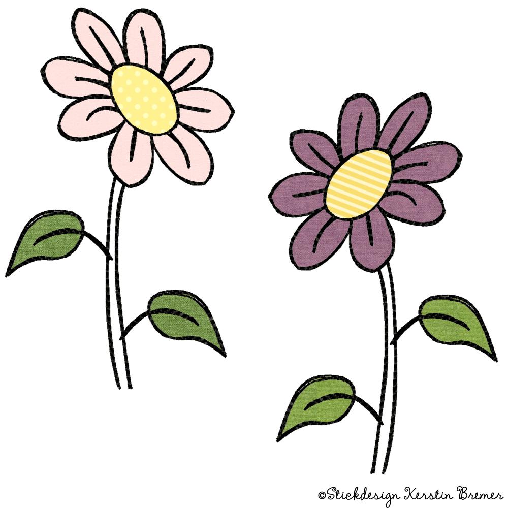 Blume Doodle Stickdateien Set - KerstinBremer.de