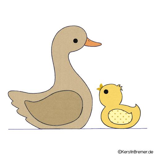 Tiere Doodle Stickmuster - KerstinBremer.de