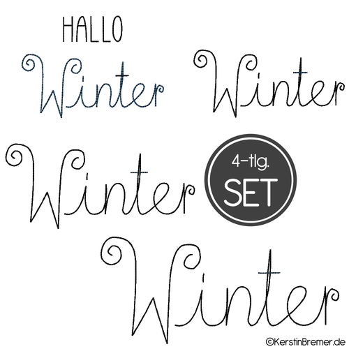 Hallo Winter Stickdateien Set