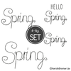 Hello Spring Stickdateien Set