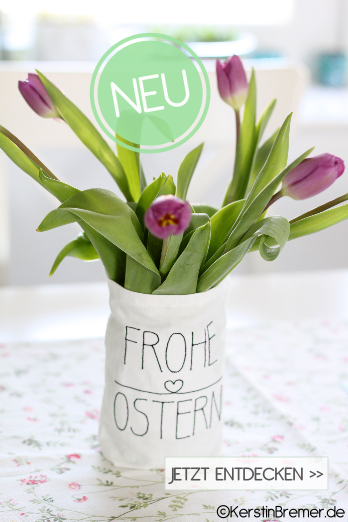 Frohe Ostern Lettering Stickdatei