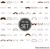 Mustache Stickdateien Set