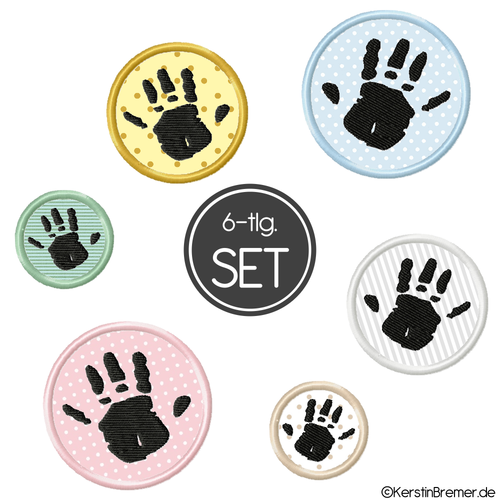 Kinderhand Button Stickdateien Set