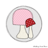 Pilz Button Doodle Applikation Stickdatei