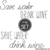 Save water Lettering Doodle Stickdatei